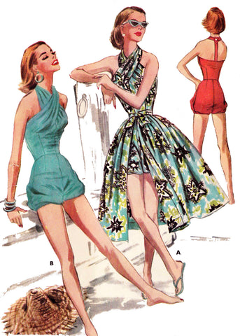 E-PATTERN 1956 Swim or Play Suit & Skirt  E3613