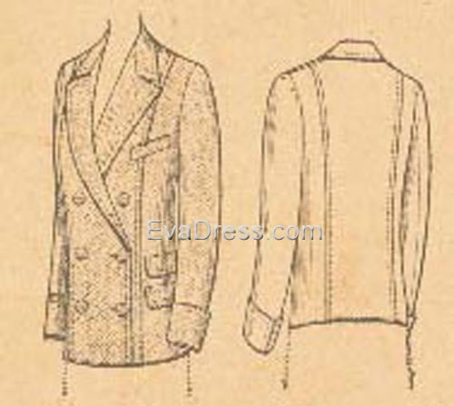 1908 Ladies' Double-Breasted Jacket C00-4035