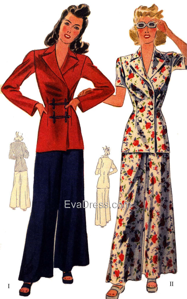 1945 Two-Piece Lounging Ensemble  SE40-4244