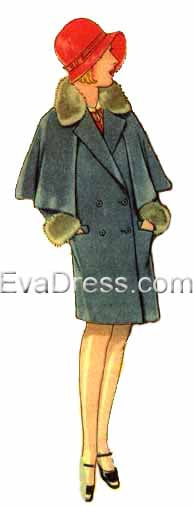 1929 Girl's Coat with Cape, C20-43247