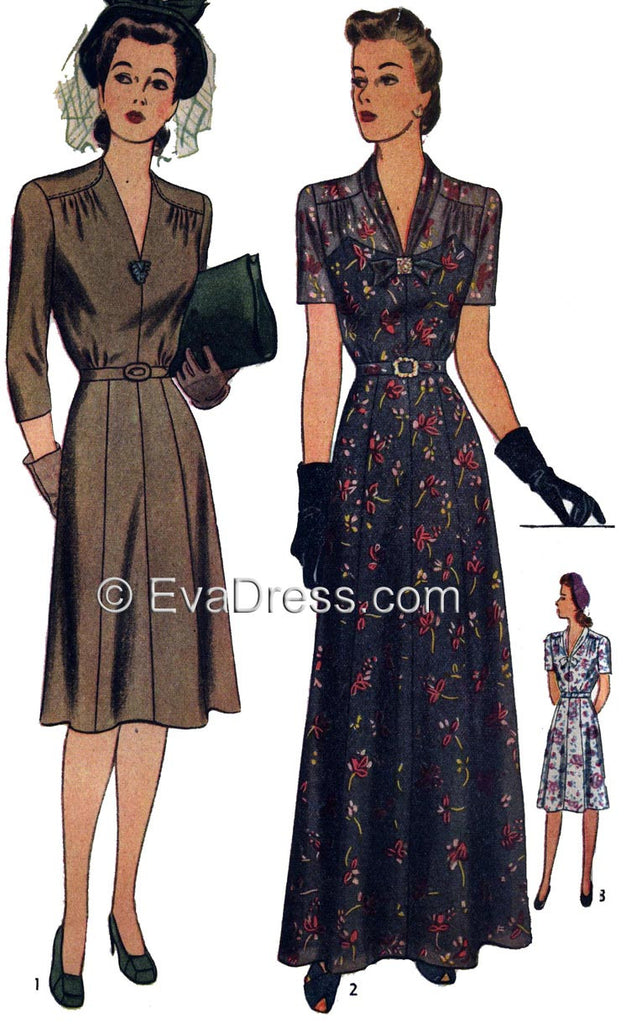 E-PATTERN 1943 Day or Evening Dress, E4517