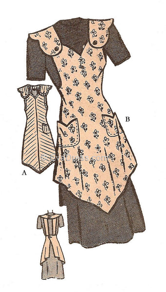 1940's One-Yard Apron, A40-4599