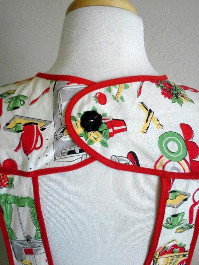 E-PATTERN 1940's One-Yard Apron, E4599