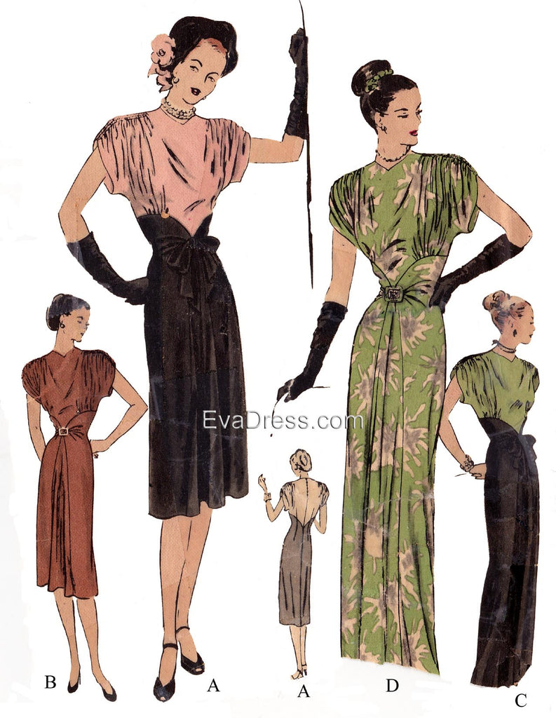 E-PATTERN 1946 Day or Evening Dress E4711