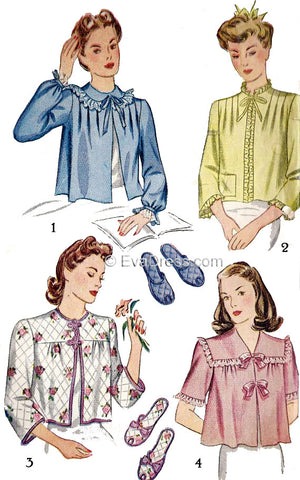 1943 Bed Jacket & Slippers, NL40-4756