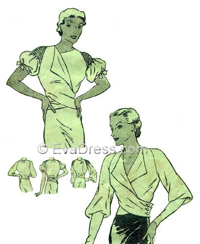 1935 Wrap-Around Blouses, B30-4851