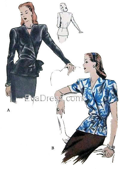 1944 Tunic Blouse, B40-5276