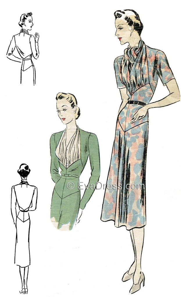 1937 Cocktail Dress D30-573
