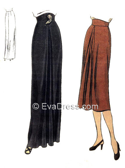 1945 Skirt with Godet Sk40-5804