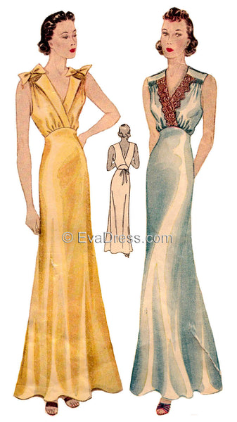 E-PATTERN 1936 Nightgowns E610