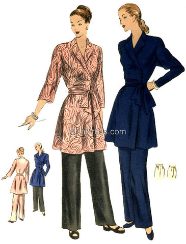 E-Pattern 1949 Lounging Ensemble, E6120