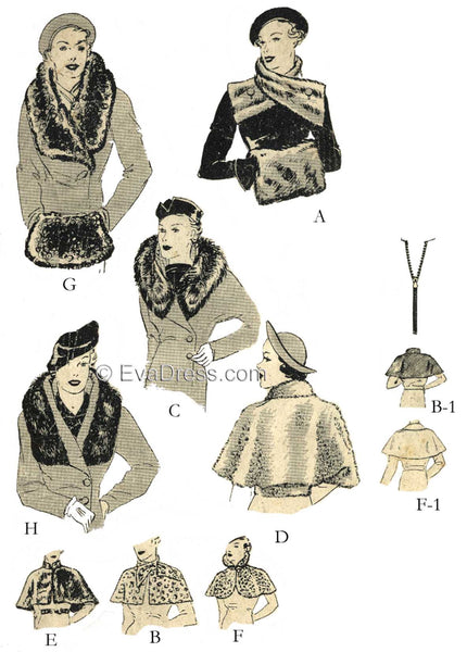 1936 Capes, Muffs & Collars C30-6474