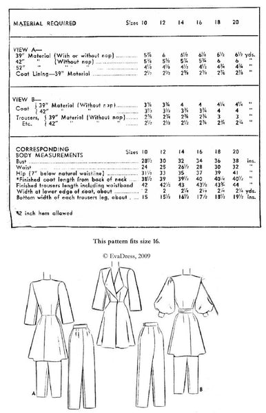 1946 Lounging Ensemble, NL40-6593