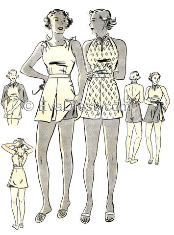 E-PATTERN 1936 Swim Suits E6790