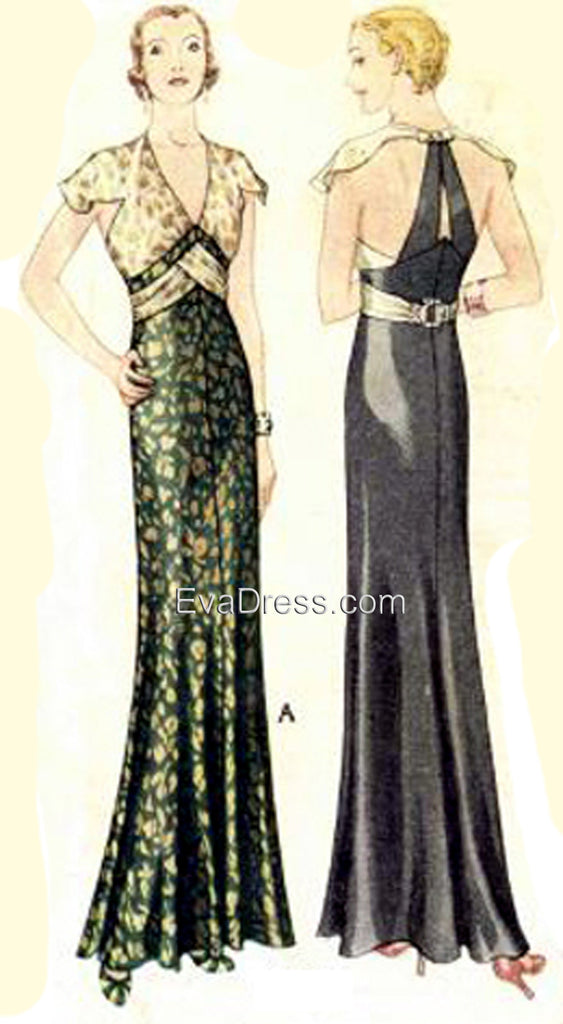 E-PATTERN 1932 Evening Gown E30-6983