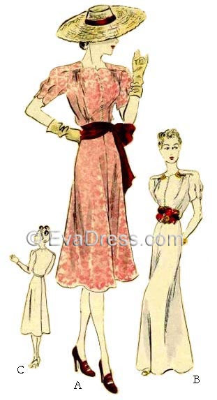 1944 Day or Evening Dress, E40-8046