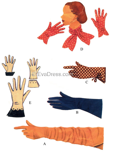 1953 Scarf & Gloves Acc50-8371