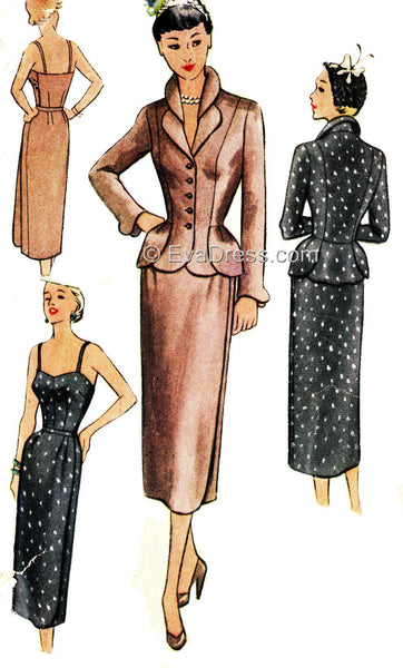 1951 Bodice, Skirt & Jacket SE50-8433