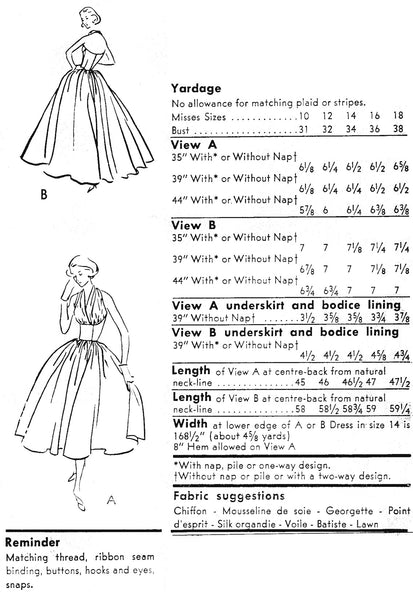 1957 Halter Evening Gown E50-9180