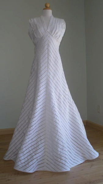 'Ribbon' gown made from modified version of this pattern.