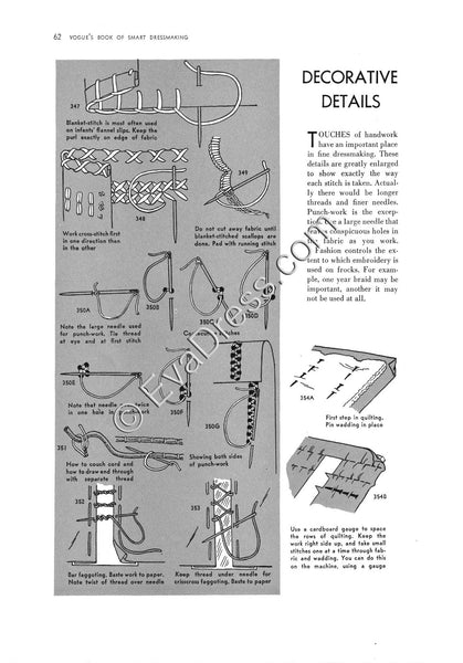 Reproduction 1937 Vogue Sewing Booklet (Reproduction)