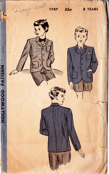1939 Boy's Jacket, Original Hollywood 1787