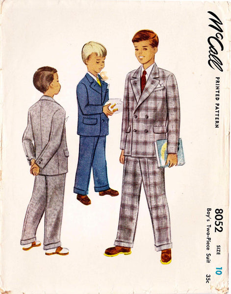 1950 Boys' Jacket & Trousers, Original Simplicity 8052