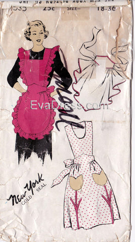 "1950 Aprons, Original New York 535 36"" bust"
