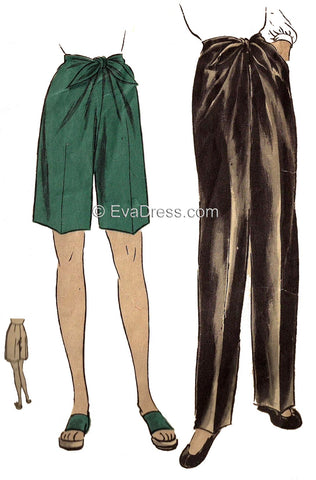 1945 Front-Tie Trousers & Shorts, T40-5490