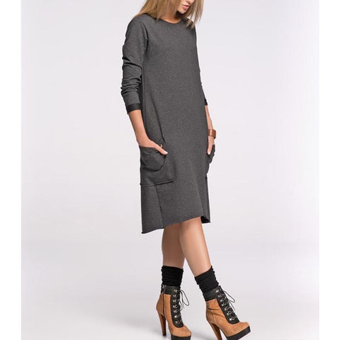 Pocketed Chic Midi Dress