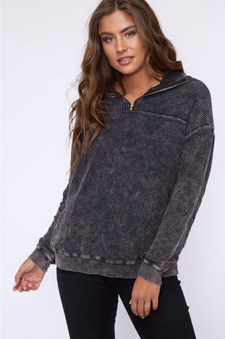 Charcoal Corduroy pullover