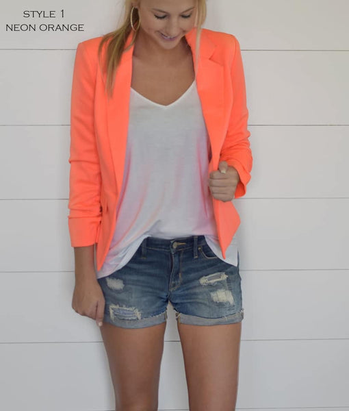 Color pop blazer