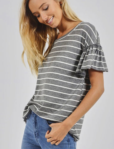 Liz stripe top