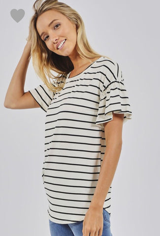 Lizza stripe top