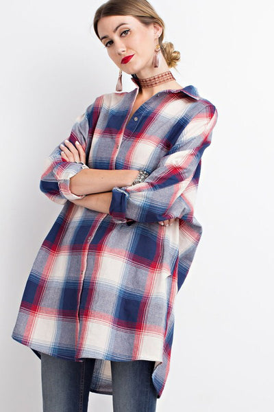 Sam oversized plaid tunic