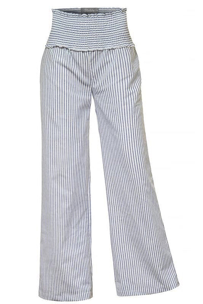 Blue and white stripe pants