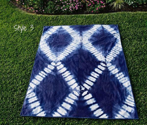 Indigo Dip Dyed Throw