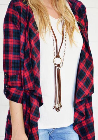 Jacey Fringe Leather Necklace