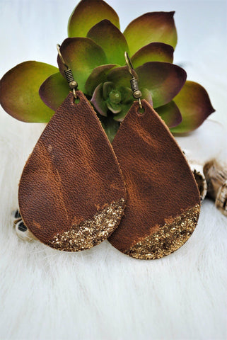 Leather Dipped Earrings