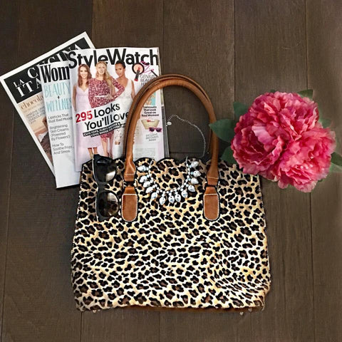 Leopard Scallop Bag