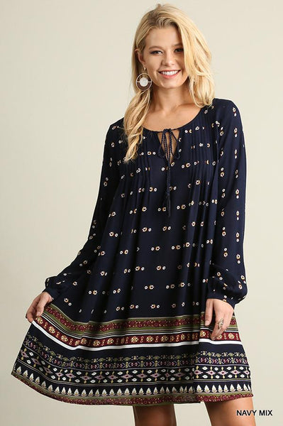 Navy Mix Dress