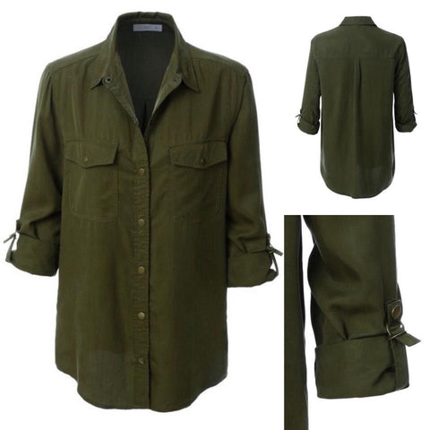 Olive Army Shirt