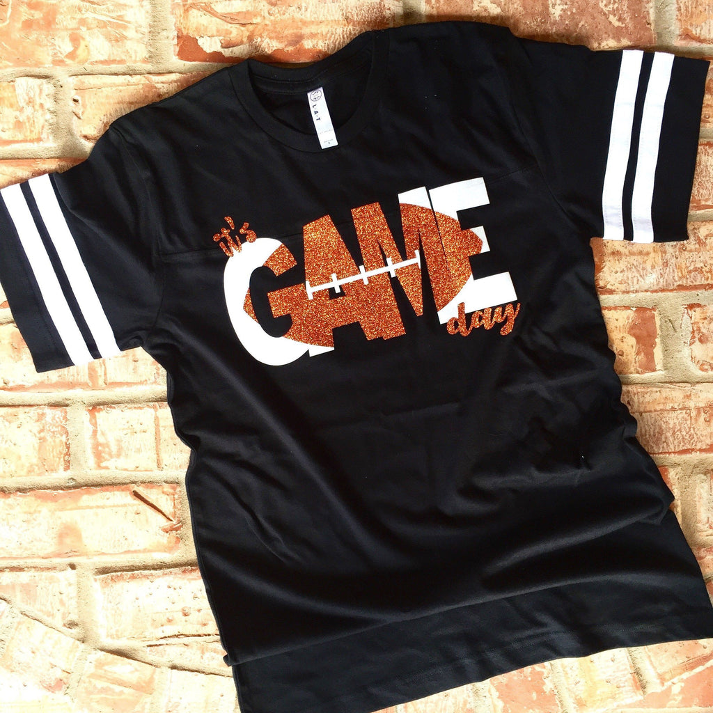 Orange/black It's Game Day Tee