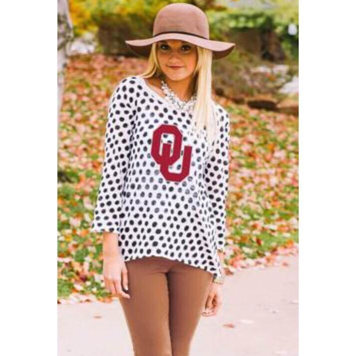 OU Polka Dot Sweater
