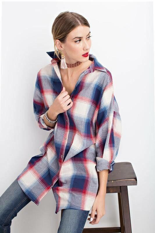 Sam Plaid Top