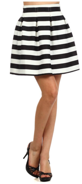 Skirts - Striped A-line Skirt