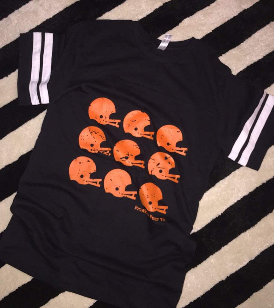 Tops - Black And Orange Helmet Tee