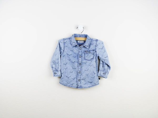 chambray denim shirt, denim shirt