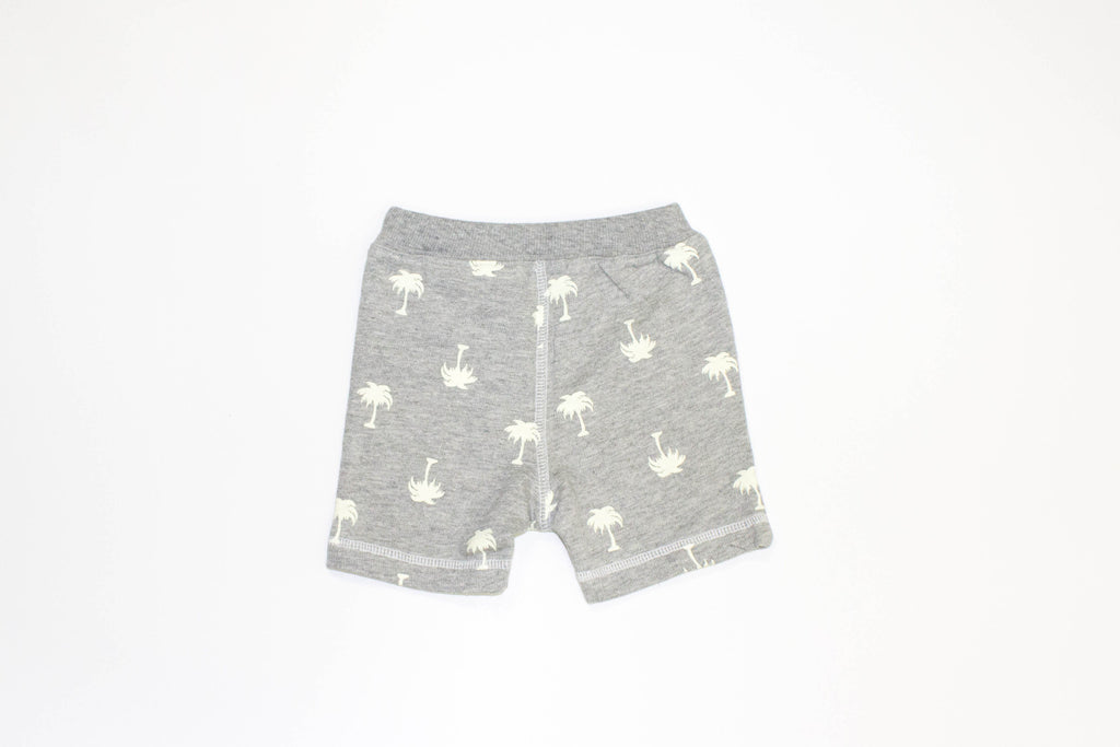 palm tree knit shorts
