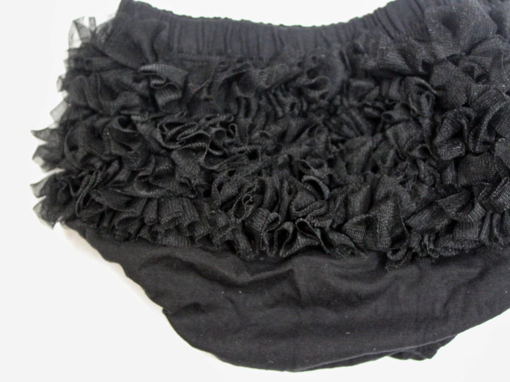 ruffle tutu black bloomer, diaper cover black, baby girl bloomers black, little girls black bloomers